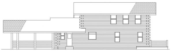 Wickiup - 30-116 - Lodge House Plan - Rear Elevation