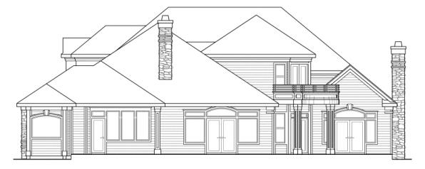 Macleod - 30-120 - Estate Home Plan - Rear Elevation