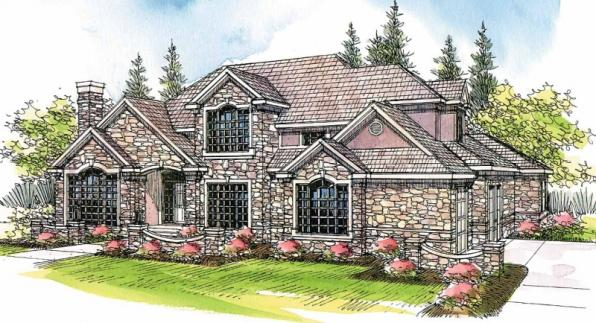 Macleod - 30-120 - Estate Home Plan - Front Elevation