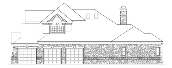 Macleod - 30-120 - Estate Home Plan - Left Elevation