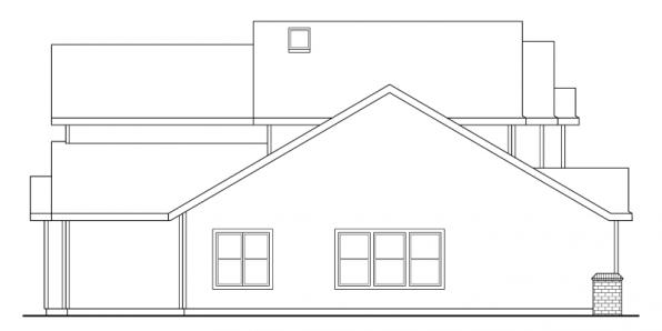 Valemont - 30-163 - Traditional Home Plan - Right Elevation