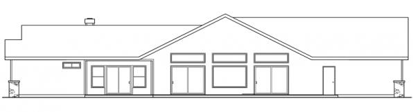 Williston - 30-165 - Ranch Home Plan - Rear Elevation