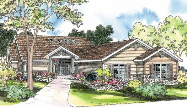 Williston - 30-165 - Ranch Home Plan - Front Elevation