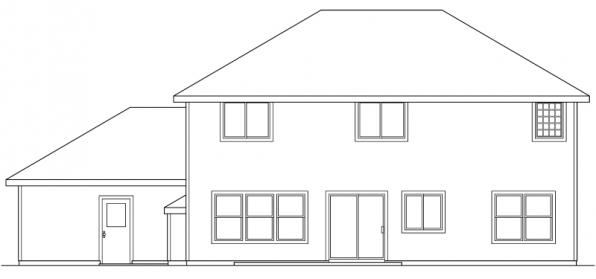 Westhaven - 30-173 - Traditional Home Plan - Rear Elevation