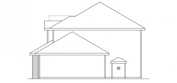 Westhaven - 30-173 - Traditional Home Plan - Left Elevation