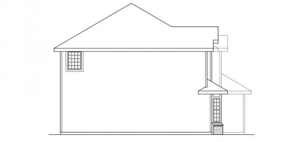 Westhaven - 30-173 - Traditional Home Plan - Right Elevation