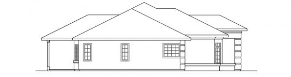 Lantana - 30-177 - Southwestern Home Plan - Right Elevation