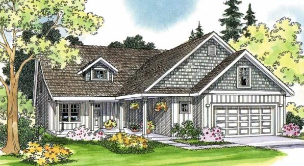 Bryson - 30-204 - Craftsman Home Plan - Front Elevation