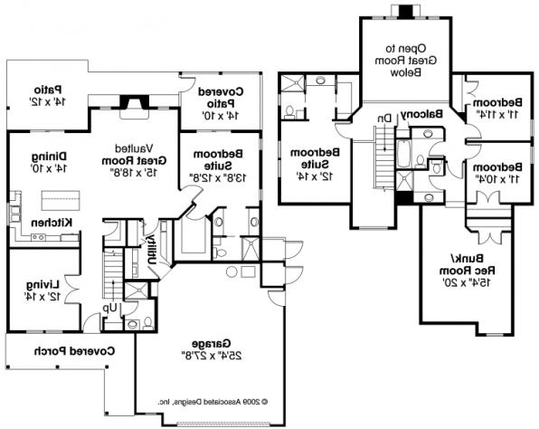 Bryson - 30-204 - Craftsman Home Plan - Floor Plan