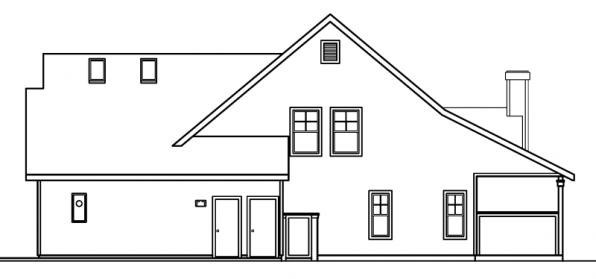 Bryson - 30-204 - Craftsman Home Plan - Left Elevation