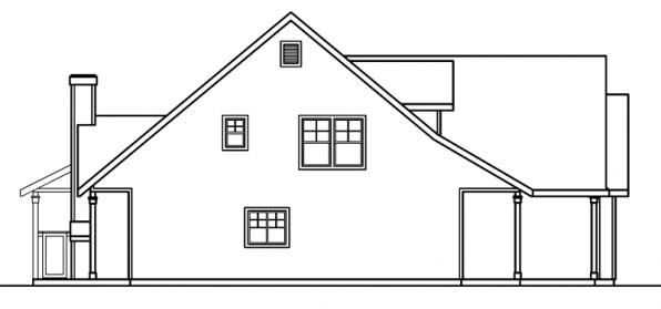 Bryson - 30-204 - Craftsman Home Plan - Right Elevation