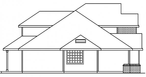 Colfax - 30-224 - Traditional Home Plan - Right Elevation