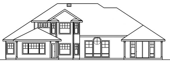 Asbury - 30-237 - Contemporary Home Plan - Rear Elevation