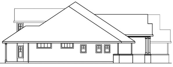 Asbury - 30-237 - Contemporary Home Plan - Right Elevation