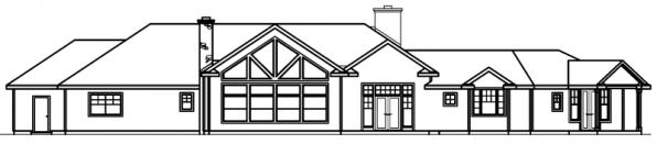 Bellewood - 30-292 - Ranch Home Plan - Rear Elevation