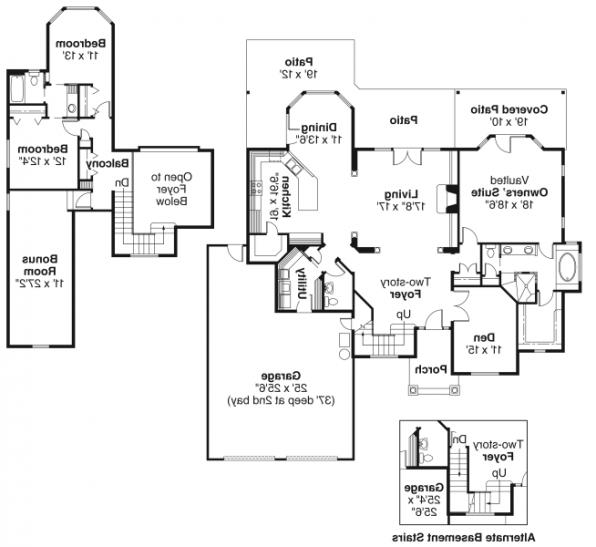 Edmonton - 30-342 - European Home Plan - Floor Plan