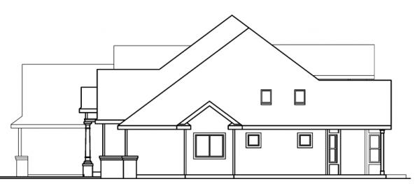 Edmonton - 30-342 - European Home Plan - Left Elevation