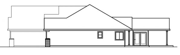 Haverford - 30-373 - Ranch Home Plan - Left Elevation