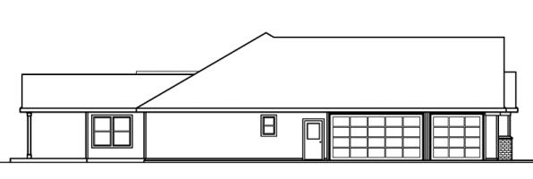 Haverford - 30-373 - Ranch Home Plan - Right Elevation