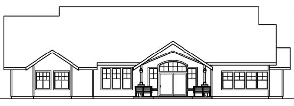 Radisson - 30-374 - Craftsman Home Plan - Rear Elevation