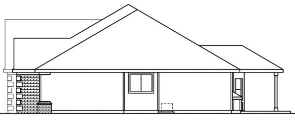 Davidson - 30-384 - Traditional Home Plan - Left Elevation