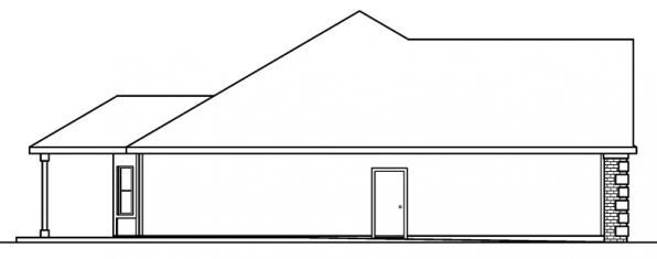 Davidson - 30-384 - Traditional Home Plan - Right Elevation