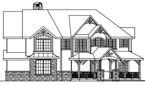Rutherford - 30-411 - Craftsman Home Plan - Right Elevation