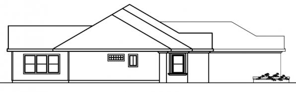 Roselle - 30-427 - Mediterranean Home Plan - Right Elevation