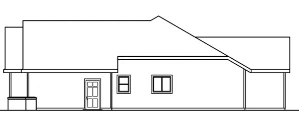 Anderson - 30-467 - Traditional Home Plan - Left Elevation