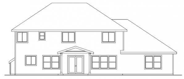 Cavanaugh - 30-490 - Bungalow Home Plan - Rear Elevation