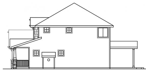 Cavanaugh - 30-490 - Bungalow Home Plan - Left Elevation