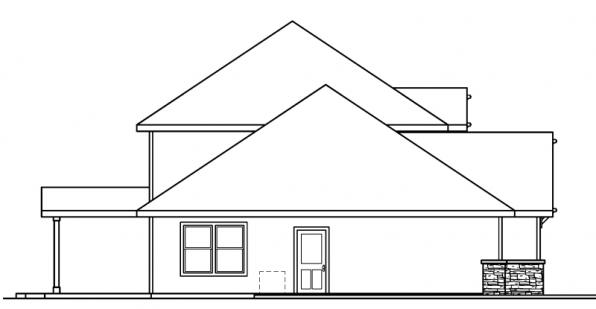 Cavanaugh - 30-490 - Bungalow Home Plan - Right Elevation