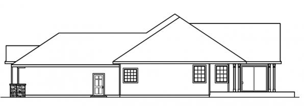 Irvington - 30-493 - Contemporary Home Plan - Left Elevation
