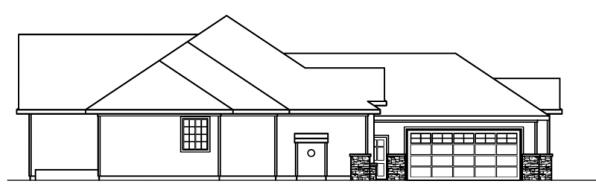 Irvington - 30-493 - Contemporary Home Plan - Right Elevation
