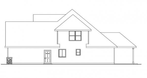 Wilsonville - 30-517 - Craftsman Home Plan - Left Elevation