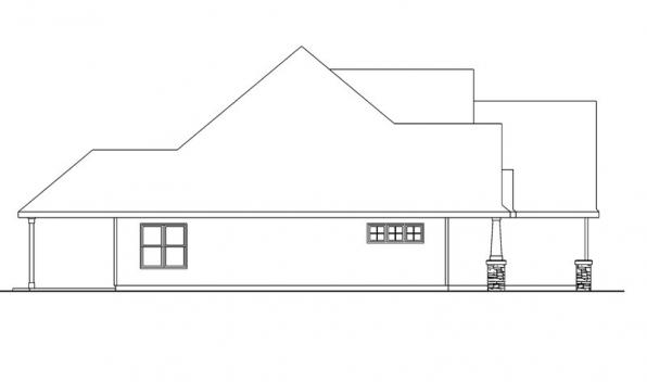 Wilsonville - 30-517 - Craftsman Home Plan - Right Elevation