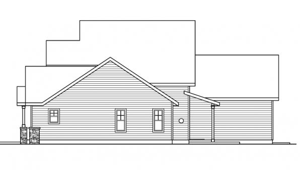 Awbery - 30-551 - Craftsman Home Plan - Left Elevation