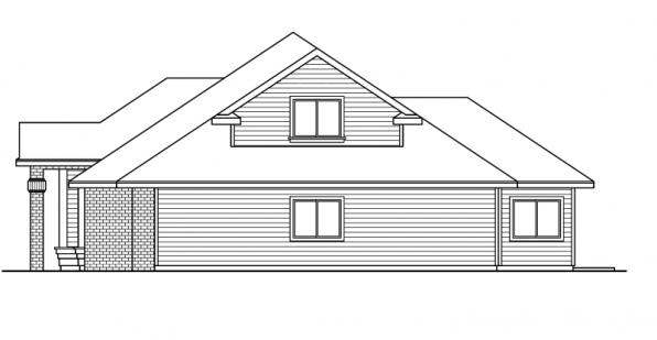 Vicksburg - 30-567 - Traditional Home Plan - Left Elevation