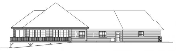 Ramsbury - 30-585 - Traditional Home Plan - Rear Elevation