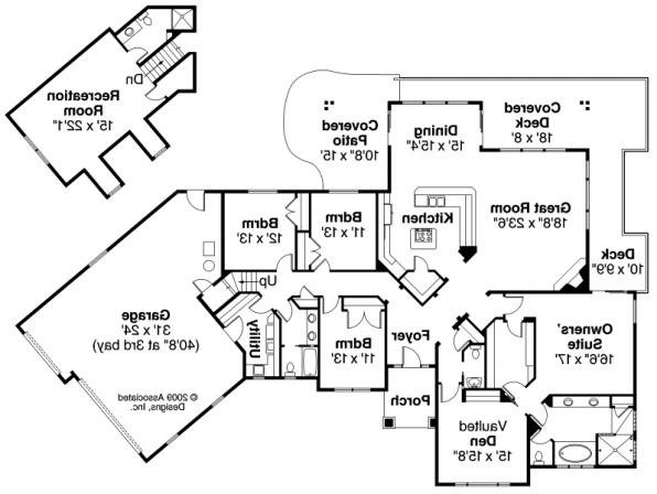 Ramsbury - 30-585 - Traditional Home Plan - Floor Plan