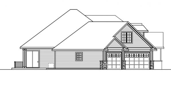 Ramsbury - 30-585 - Traditional Home Plan - Left Elevation