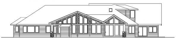 Missoula - 30-595 - Estate Home Plan - Rear Elevation