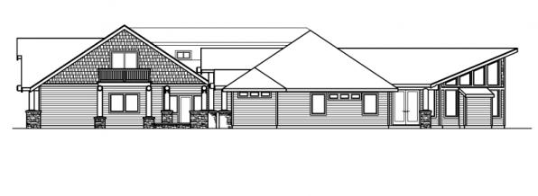 Missoula - 30-595 - Estate Home Plan - Left Elevation