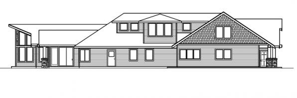 Missoula - 30-595 - Estate Home Plan - Right Elevation