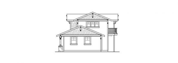 Summerfield - 30-611 - Estate Home Plan - Left Elevation