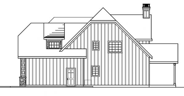 Wedgewood - 30-629 - Chateau Home Plan - Left Elevation