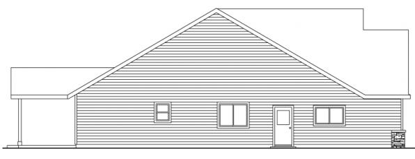 Allenspark - 30-700 - Cottage Home Plan - Right Elevation