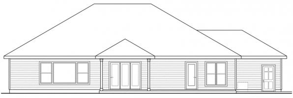 Ambrose - 30-736 - Traditional Home Plan - Rear Elevation