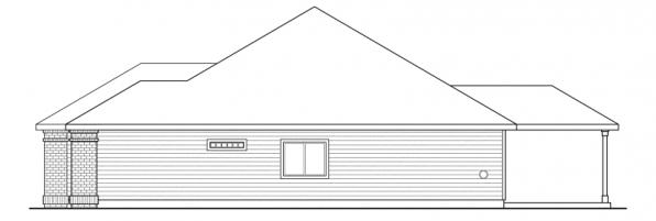 Ambrose - 30-736 - Traditional Home Plan - Left Elevation