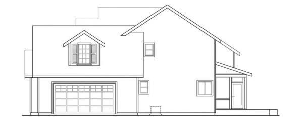 Glendale - 30-750 - Country Home Plan - Left Elevation
